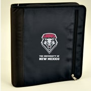 Turner Licensing® Nylon New Mexico Lobos Zipper Binder, Black