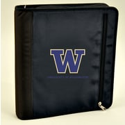Turner Licensing® Nylon Washington Huskies Zipper Binder, Black