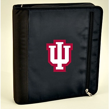 Turner Licensing® Nylon Indiana Hoosiers Zipper Binder, Black