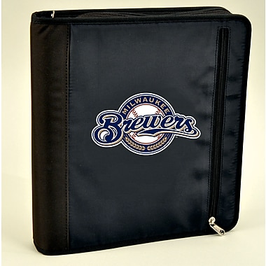Turner Licensing® Nylon Milwaukee Brewers Zipper Binder, Black