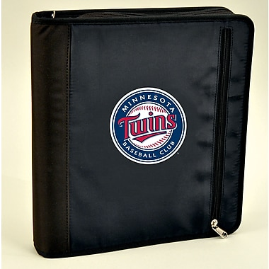 Turner Licensing® Nylon Minnesota Twins Zipper Binder, Black