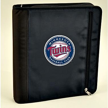 Turner Licensing® Nylon Minnesota Twins Zipper Binder, Black