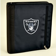 Turner Licensing® Nylon Oakland Raiders Zipper Binder, Black