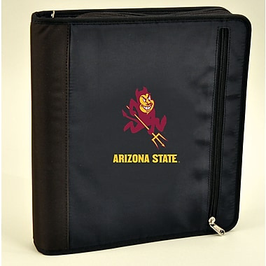 Turner Licensing® Nylon Arizona State Sun Devils Zipper Binder, Black