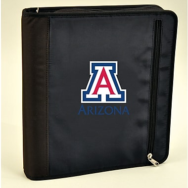 Turner Licensing® Nylon Arizona Wildcats Zipper Binder, Black