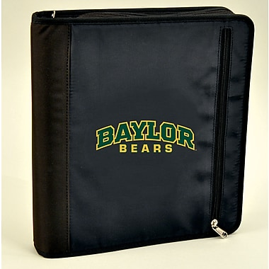 Turner Licensing® Nylon Baylor Bears Zipper Binder, Black