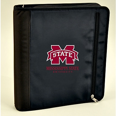 Turner Licensing® Nylon Mississippi State Bulldogs Zipper Binder, Black