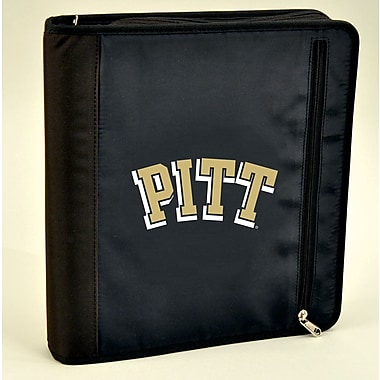 Turner Licensing® Nylon Pittsburgh Panthers Zipper Binder, Black