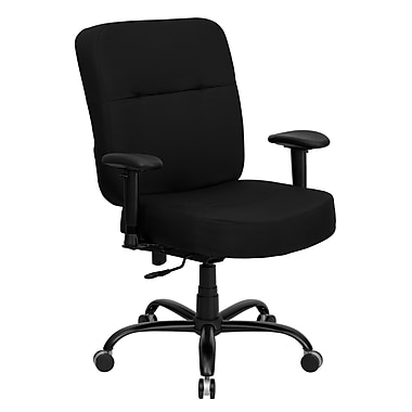 Flash Furniture HERCULES Series 400 lb. Capacity Big & Tall Fabric Office Chair with Arms and 22''W Seat, Black