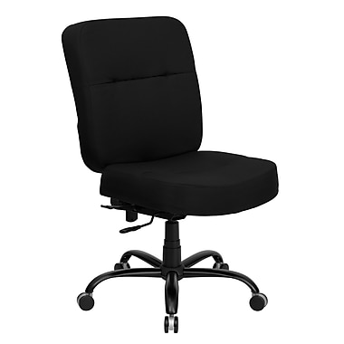 Flash Furniture Hercules™ Series Fabric Office Chair with Extra Wide Seat, Contour Black