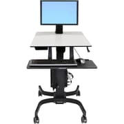 Ergotron® Up To 30 in Screen WorkFit-C Single HD Sit-Stand Workstation
