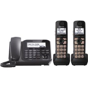 Panasonic KX-TG4772B Digital Corded/Cordless Phone, 100 Names/Number