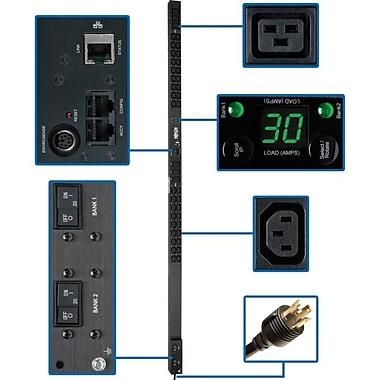 Tripp Lite® PDUMNV30HV2 Single-Phase Monitored Power Distribution Unit, 208V Input/240V Output