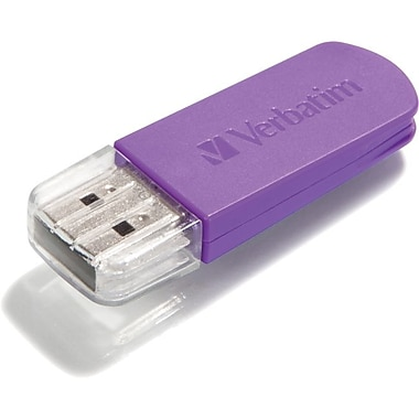 Verbatim® Store 'n' Go® Mini 32GB USB 2.0 Flash Drive With Cap, Violet