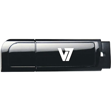 V7® 4 GB Capped USB 2.0 Flash Drive (Black)