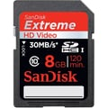 SanDisk® Extreme® SDHC Class 10 CompactFlash Memory Card, 8GB