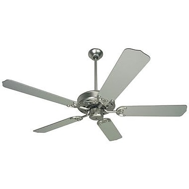 Craftmade 52'' Contractor's Select Ceiling Fan; Brushed Nickel with Brushed Nickel Blades