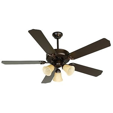 Craftmade 52'' CD Unipack 206 5 Blade Ceiling Fan; Oiled Bronze with Oiled Bronze Blades
