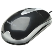 Manhattan™ MH3 Classic Optical Desktop Mouse, Black/Silver
