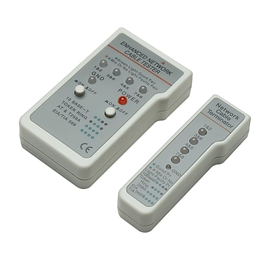 Intellinet™ 351898 Multifunction Cable Tester, Beige/Gray