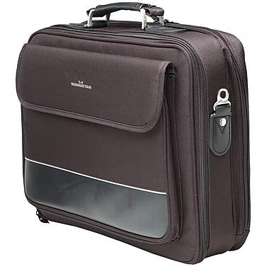 Manhattan™ 15.6in. Empire II Notebook Computer Briefcase, Black