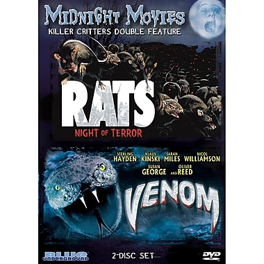 Midnight Movies - Volume 10 - Killer Critters Double Feature (Rats - Night Of Terror/Venom) (DVD)