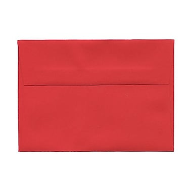 JAM Paper® 4bar A1 Envelopes, 3.63 x 5 1/8, Brite Hue Red Recycled, 1000/Pack (900927182B)