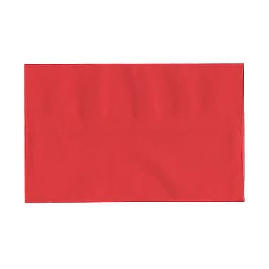 JAM Paper® A10 Invitation Envelopes, 6 x 9.5, Brite Hue Red Recycled, 100/Pack (96078g)