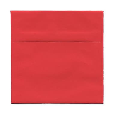 JAM Paper® 6 x 6 Square Envelopes, Brite Hue Red Recycled, 1000/Pack (2792270B)