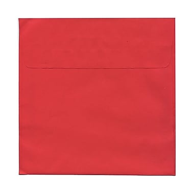 JAM Paper® 8.5 x 8.5 Square Envelopes, Brite Hue Red Recycled, 25/Pack (2794374)