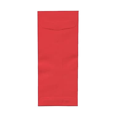 JAM Paper® #10 Policy Envelopes, 4 1/8 x 9.5, Brite Hue Red Recycled, 100/Pack (25048g)