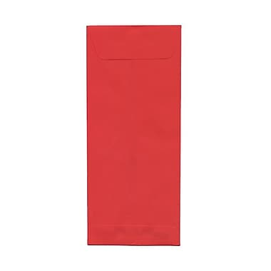 JAM Paper® #14 Policy Envelopes, 5 x 11.5, Brite Hue Red Recycled, 100/Pack (900905211g)