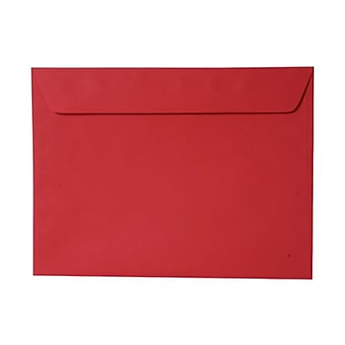 JAM Paper® 9 x 12 Booklet Envelopes, Brite Hue Red Recycled, 100/Pack (17253g)
