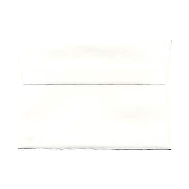 JAM Paper® 3 5/8in. x 5 1/8in. Booklet Strathmore Wove Envelopes w/Gum Closure, Bright White, 25/Pack