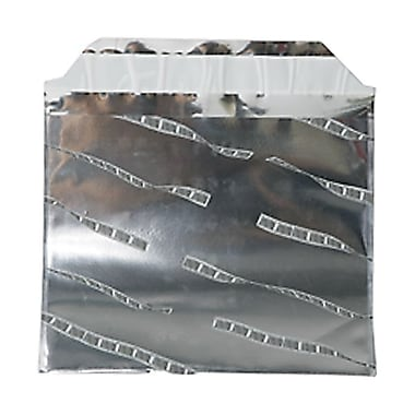 JAM Paper® 5in. x 6 1/8in. Booklet Film Foil Envelopes w/Peal & Seal Closure, Silver, 100/Pack