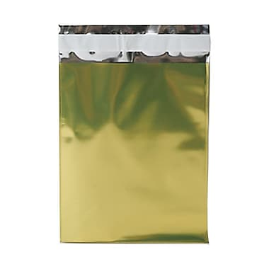 JAM Paper® Foil Envelopes with Self Adhesive Closure, 6.25 x 7.88, Open End, Gold, 100/Pack (01323273B)