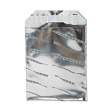 JAM Paper® Foil Envelopes with Self Adhesive Closure, 6 1/4 x 7 7/8, Open End, Silver Film Design, 25/pack (1323281)