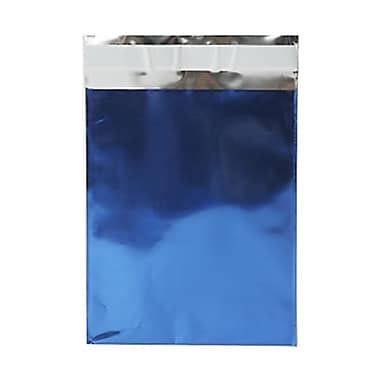 JAM Paper® Foil Envelopes with Self Adhesive Closure, 6 1/4 x 7 7/8, Open End, Blue, 100/pack (01323271B)