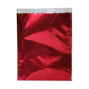 JAM Paper® 10 x 13 Open End Foil Envelopes w/Peal and Seal Closure, Red, 25/Pack