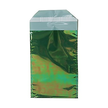 Jam® 100/Pack 5 1/4in. x 8in. Open End Foil Envelopes w/Peal & Seal Closure