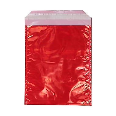 JAM Paper® 5 1/4in. x 8in. Open End Foil Envelope, Red Iridescent, 25/Pack