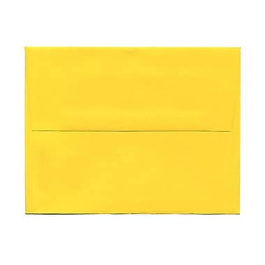 JAM Paper® A2 Invitation Envelopes, 4.38 x 5.75, Brite Hue Yellow Recycled, 1000/Pack (15839B)