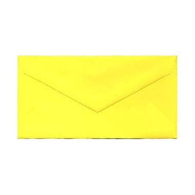 JAM Paper® Monarch Envelopes, 3.88 x 7.5, Brite Hue Yellow Recycled, 1000/Pack (34097577B)