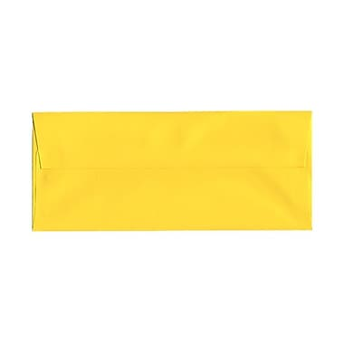 JAM Paper® #10 Business Envelopes, 4 1/8 x 9.5, Brite Hue Yellow Recycled, 1000/Pack (15859B)