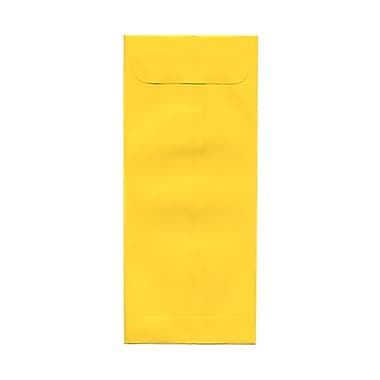 JAM Paper® #10 Policy Envelopes, 4 1/8 x 9.5, Brite Hue Yellow Recycled, 100/Pack (15877g)