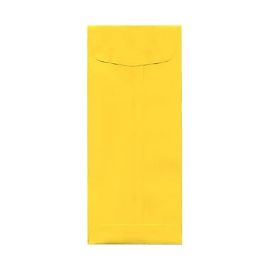 JAM Paper® #11 Policy Envelopes, 4.5 x 10.38, Brite Hue Yellow Recycled, 1000/Pack (3156393B)