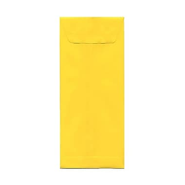 JAM Paper® #12 Policy Envelopes, 4.75 x 11, Brite Hue Yellow Recycled, 100/Pack (3156400g)