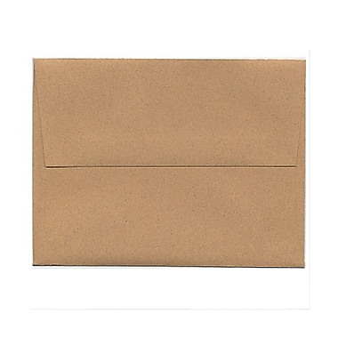 JAM Paper® A2 Invitation Envelopes, 4.38 x 5.75, Ginger Brown Recycled, 200/Pack (21545g)