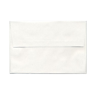 JAM Paper® A8 Invitation Envelopes, 5.5 x 8.125, Talc White Recycled, 100/Pack (36670g)