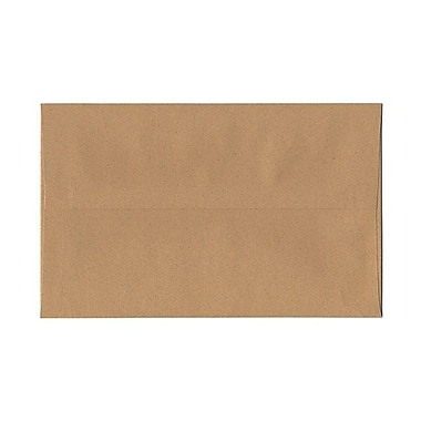 JAM Paper® A10 Invitation Envelopes, 6 x 9.5, Ginger Brown Recycled, 100/Pack (2831489g)